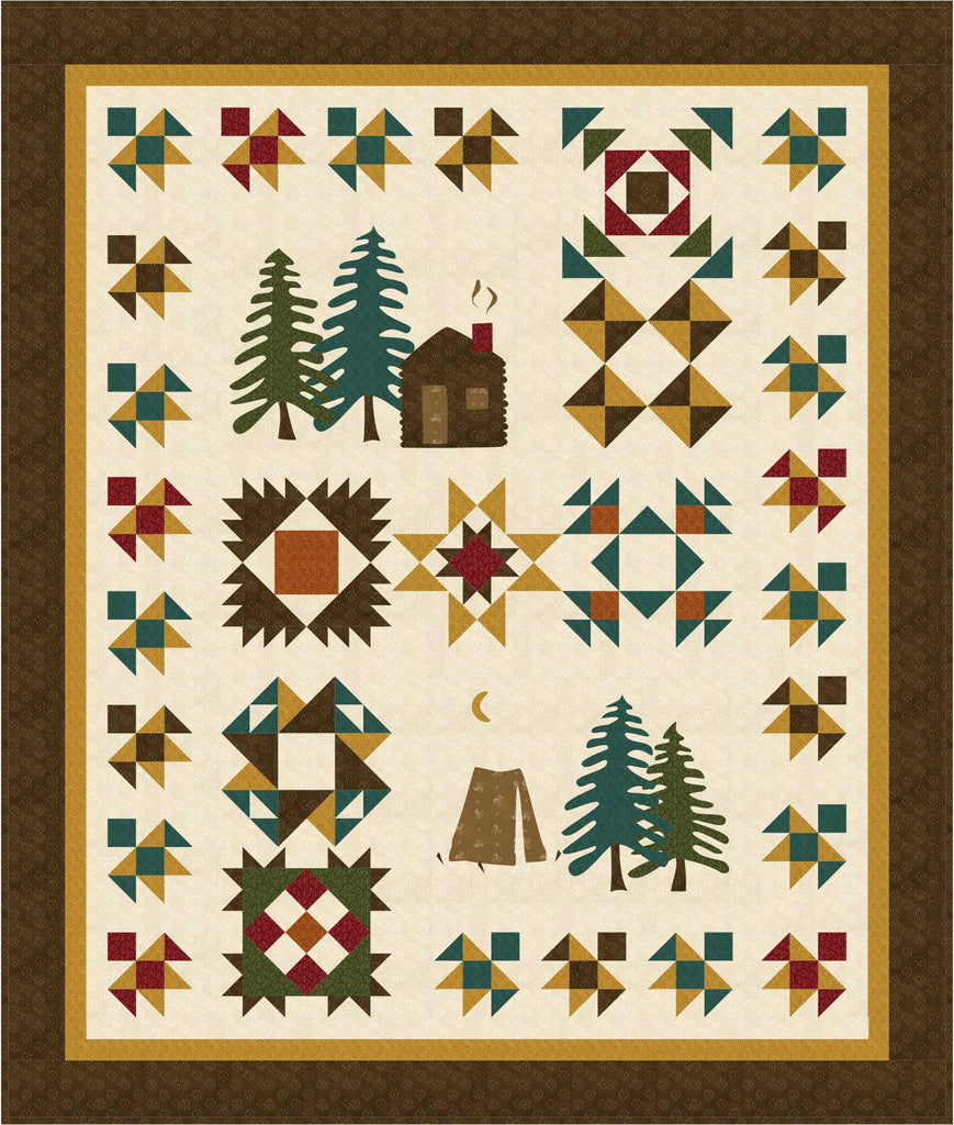 Time In The Pines Block of the Month pattern