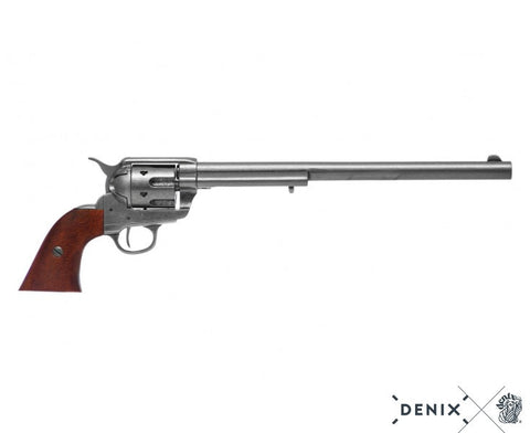 "Denix - Buntline Special .45 Caliber Peacemaker Revolver with 12"" barrel - Pewter"