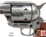 "Denix - Buntline Special .45 Caliber Peacemaker Revolver with 12"" barrel - Pewter - MaxArmory"