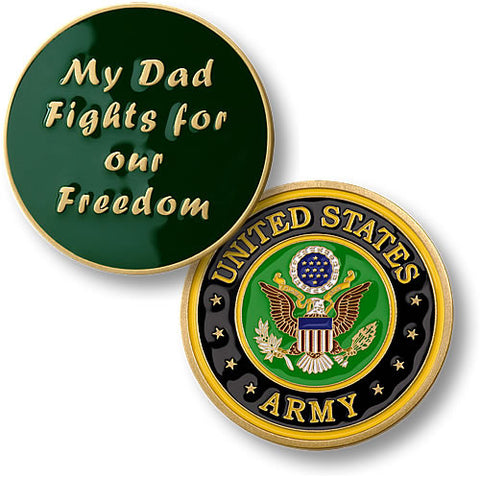 My Dad Fights - Army Challenge Coin Credential Case - MaxArmory