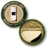 U.S. Army Warrant Officer 1 Challenge Coin Credential Case