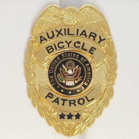 Closeout - 435 Auxiliary Bicycle Patrol Badge - MaxArmory