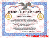 Fugitive Recovery Agent Certificate - MaxArmory