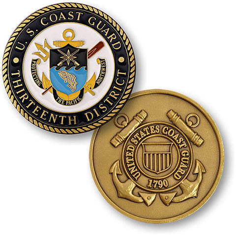 Thirteenth Coast Guard District  Challenge Coin Credential Case - MaxArmory