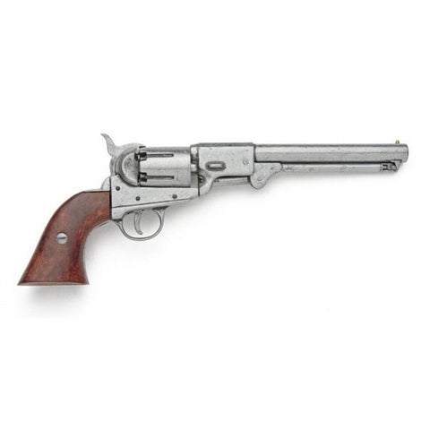 Denix Confederate M1851 Navy Revolver Pewter Finish (Not Resin)