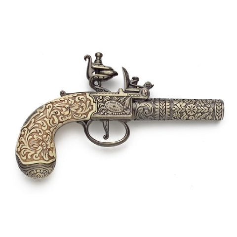 Denix Colonial Pocket Pistol by Kumbley & Brum, London 1795 - Non-Firing Replica Gun