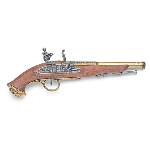 Denix 18th Century Brass Trim Pirate Flintlock Pistol Non-Firing Replica Gun