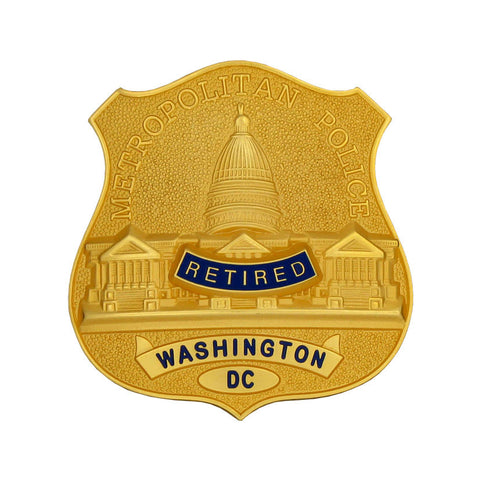 Retired Washington DC Metropolitan Police Badge