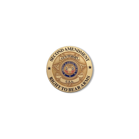Second Amendment Right To Bear Arms - Challenge Coin Credential Case