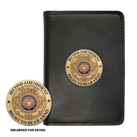 Second Amendment Right To Bear Arms - Challenge Coin Credential Case - MaxArmory
