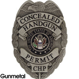 435 Concealed Handgun Permit Badge - (Silver, Gold, Gunmetal and Two-Tone Finishes)