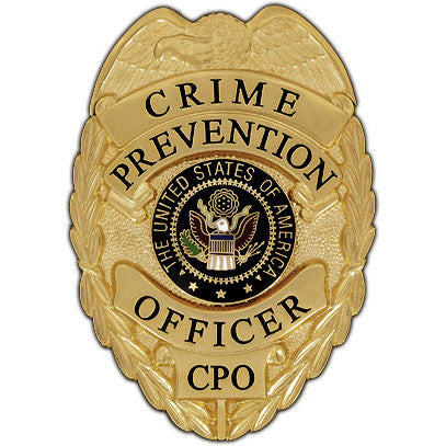 435 Crime Prevention Officer Badge Set - MaxArmory