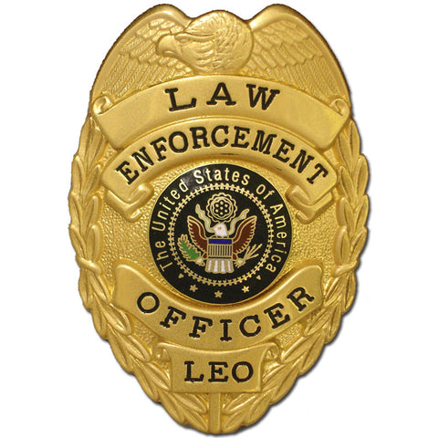 435 Law Enforcement Officer Badge - MaxArmory