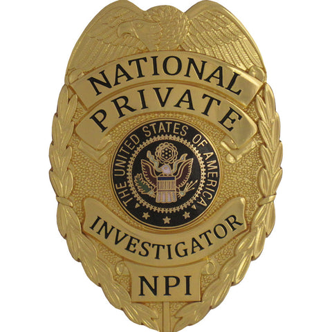 435 National Private Investigator Badge Set - MaxArmory