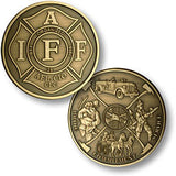 IAFF - Fireman Theme  Challenge Coin Credential Case - MaxArmory