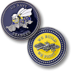 Navy Seabees Challenge Coin Credential Case
