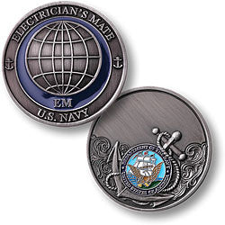 Electrician's Mate Challenge Coin Credential Case