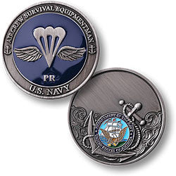 Navy Aircrew Survival Equipment man Challenge Coin Credential Case