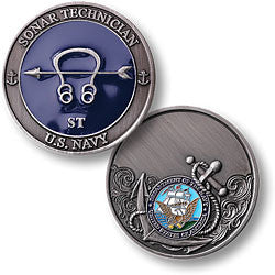 Navy Sonar Technician Challenge Coin Credential Case