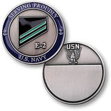 Navy E-2 Green Challenge Coin Credential Case - MaxArmory