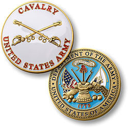 U.S. Army Cavalry Challenge Coin Credential Case
