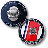 Coast Guard Scuba Diver  Challenge Coin Credential Case - MaxArmory
