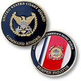 Coast Guard Command Ashore  Challenge Coin Credential Case - MaxArmory
