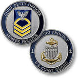 Coast Guard E7 Chief Petty Officer  Challenge Coin Credential Case - MaxArmory