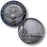 Coast Guard Aviation Survival Technician  Challenge Coin Credential Case - MaxArmory