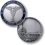 Coast Guard Health Services Technician  Challenge Coin Credential Case - MaxArmory