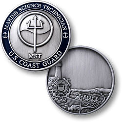 Coast Guard Marine Sciences Technician  Challenge Coin Credential Case - MaxArmory