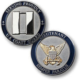 Coast Guard Lieutenant  Challenge Coin Credential Case - MaxArmory
