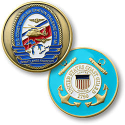 Coast Guard Air Station Traverse City  Challenge Coin Credential Case - MaxArmory