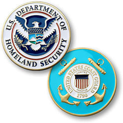 Coast Guard Homeland Security  Challenge Coin Credential Case - MaxArmory