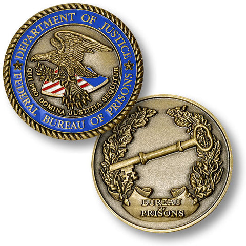Federal Bureau of Prisons Challenge Coin Credential Case - MaxArmory