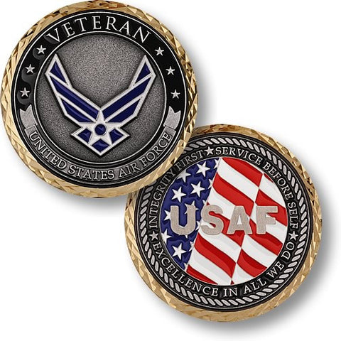 Veteran - U.S. Air Force  Challenge Coin Credential Case
