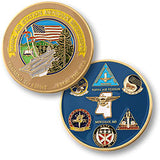 Naval Air Station Meridian Challenge Coin Credential Case