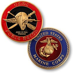 USMC Force Recon  Challenge Coin Credential Case