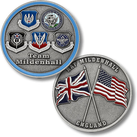RAF Mildenhall, England -- Five Seals Challenge Coin Credential Case - MaxArmory
