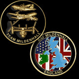 Royal Air Force Mildenhall Challenge Coin Credential Case - MaxArmory