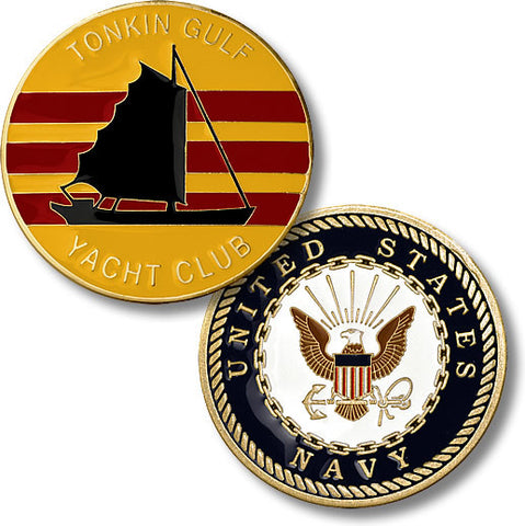 Tonkin Gulf Yacht Club  - U.S. Navy Challenge Coin Credential Case - MaxArmory
