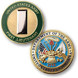 U.S. Army First Lieutenant Challenge Coin Credential Case
