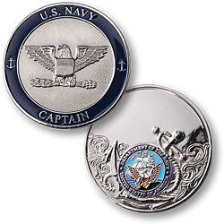 Navy Captain Challenge Coin Credential Case - MaxArmory