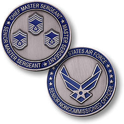Senior Master Sergeant  Challenge Coin Credential Case - MaxArmory