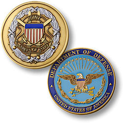 Joint Chiefs of Staff  Challenge Coin Credential Case - MaxArmory