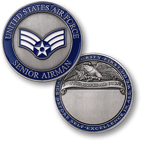 Senior Airman  Challenge Coin Credential Case