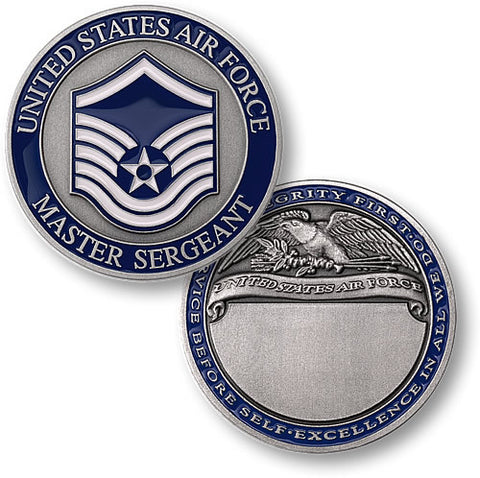 Master Sergeant Air Force  Challenge Coin Credential Case