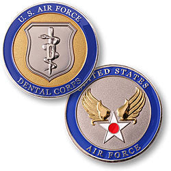 Dental Corps - Air Force  Challenge Coin Credential Case - MaxArmory