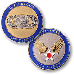 Supply/Fuels - Air Force  Challenge Coin Credential Case - MaxArmory