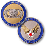 Public Affairs - Air Force  Challenge Coin Credential Case - MaxArmory